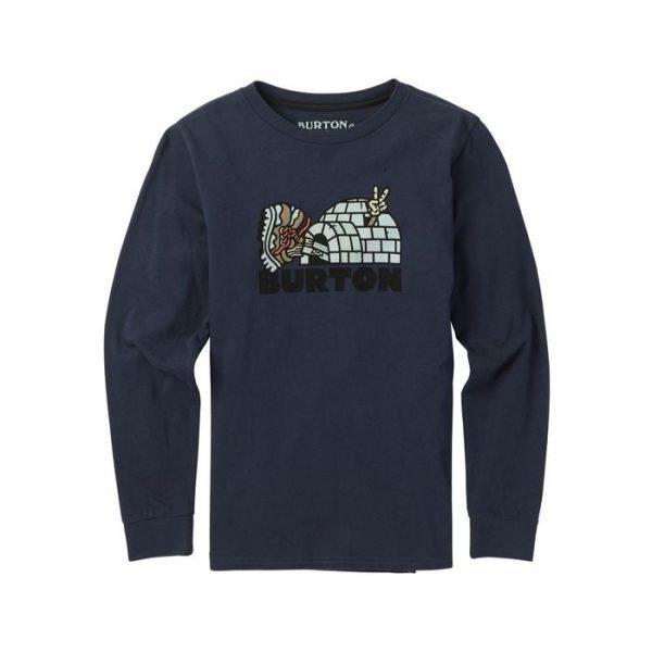 Boys' Burton Cupajo Long Sleeve T Shirt manica lunga ragazzo bimbo blu igloo