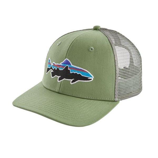 Patagonia Fitz Roy Trout Trucker Hat cappellino logo trota
