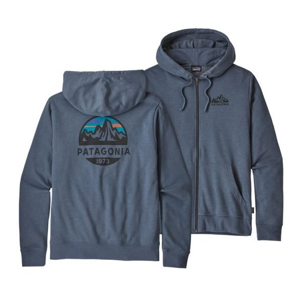 Patagonia Men's Fitz Roy Scope Lightweight Full-Zip Hoody felpa blu cappuccio zip ragazzo uomo