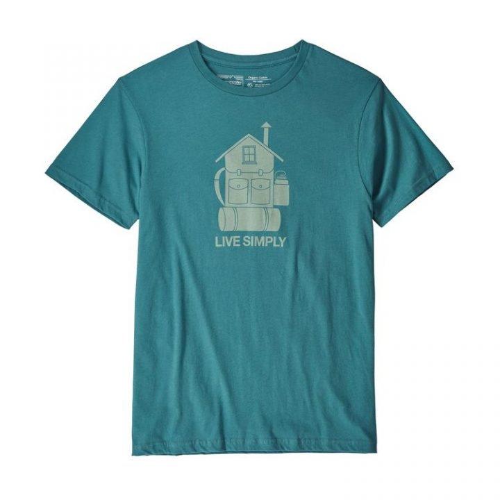Patagonia Men's Live Simply Home Organic Cotton T-Shirt maglietta casa zaino