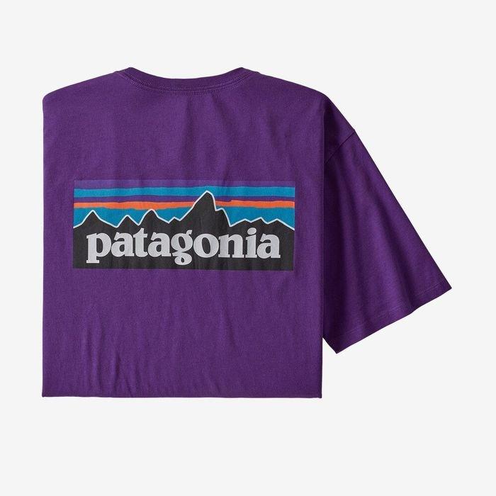Patagonia T-shirt Uomo P-6 Logo Organic Cotton m,algietta ragazzo logo patagonia viola