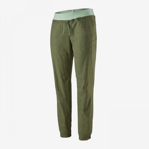 Patagonia Women's Hampi Rock Pants verdi pantaloni arrampicata donna