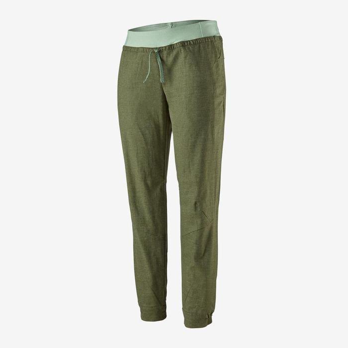 Patagonia Women's Hampi Rock Pants verdi pantaloni arrampicata donna