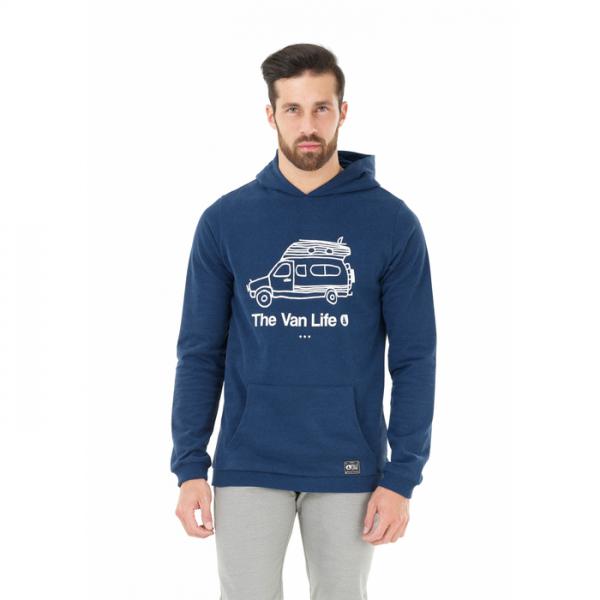 Picture travel hoodie felpa blu ragazzo