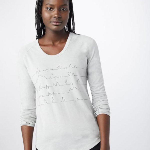 Tentree w Written Lines ls maglietta manica lunga donna ragazza