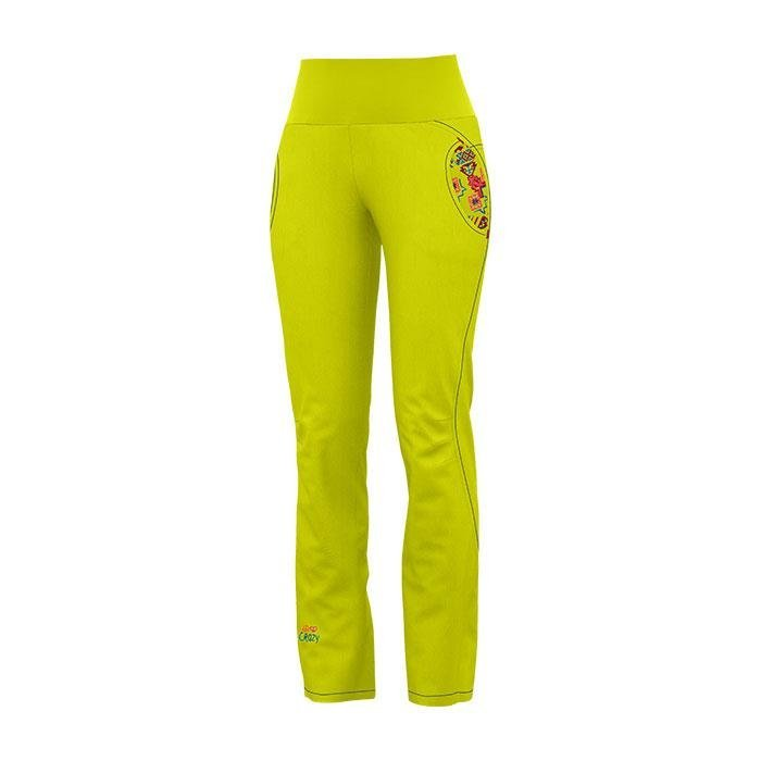 Crazy Idea Pant After Light Woman pantalone arrampicata donna giallo