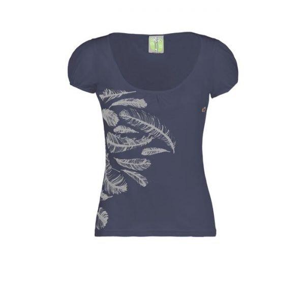 Maglietta donna E9 Plume t-shirt ragazza blu enove