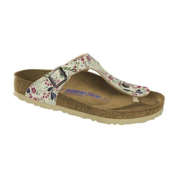 Sandalo donna Birkenstock Gizeh fiorellini