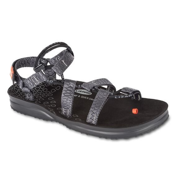 Sandalo Lizard Hex H2o skin dark grey uomo grigio