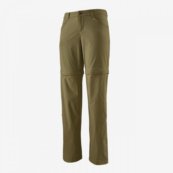 Patagonia Women's Quandary Convertible Pants - Regular pantalone divisibile donna ragazza verde