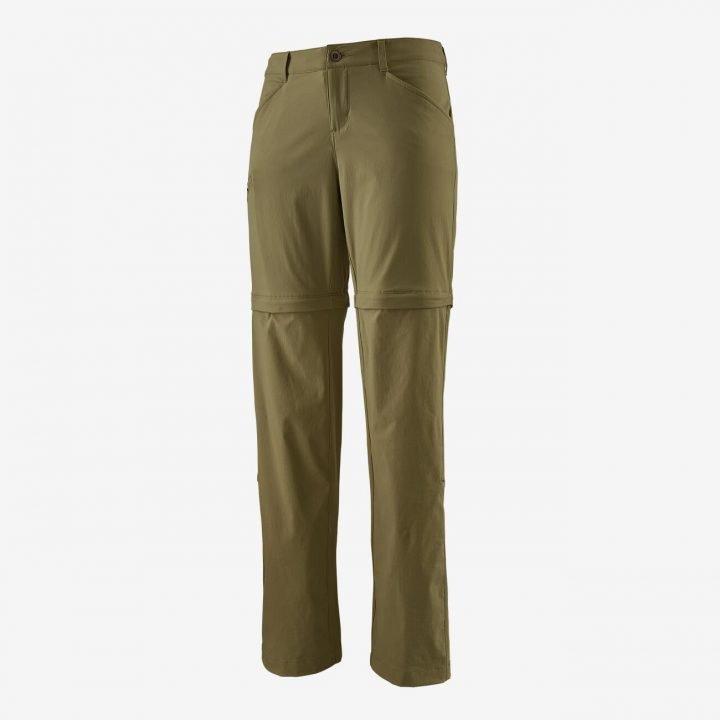 Patagonia Women's Quandary Convertible Pants - Regular pantalone divisibile donna ragazza verde