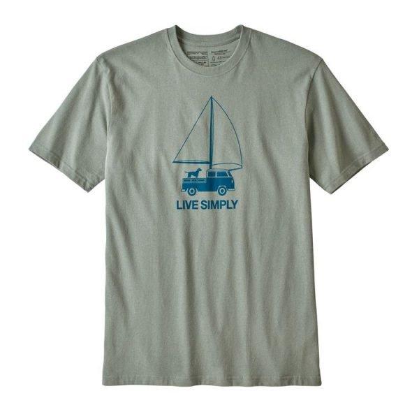 Patagonia Men's Live Simply Wind Powered Responsibili-Tee maglietta uomo barba vela cane