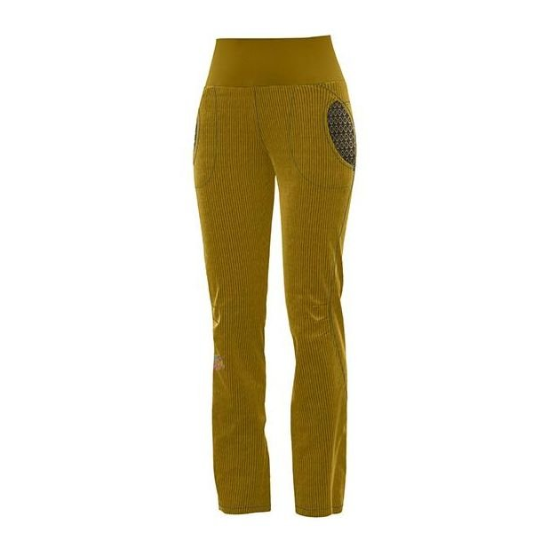 Crazy Idea Pants After Women Invernale pantalone ragazza in velluto giallo