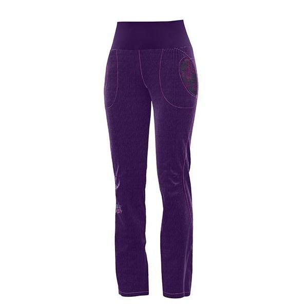 Crazy Idea Pants After Women Invernale pantalone in velluto donna arrampicata viola
