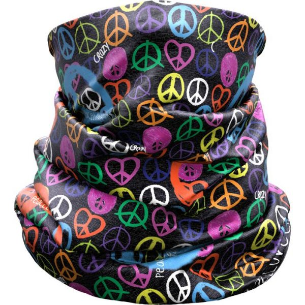 Crazy Idea Neck Gaiter Light scaldacollo para collo peace and love