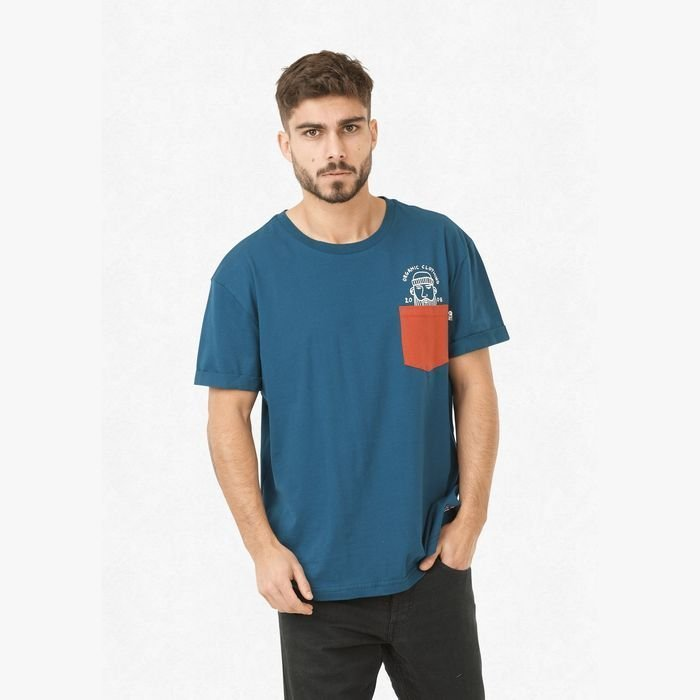 Picture Timber T-shirt petrol