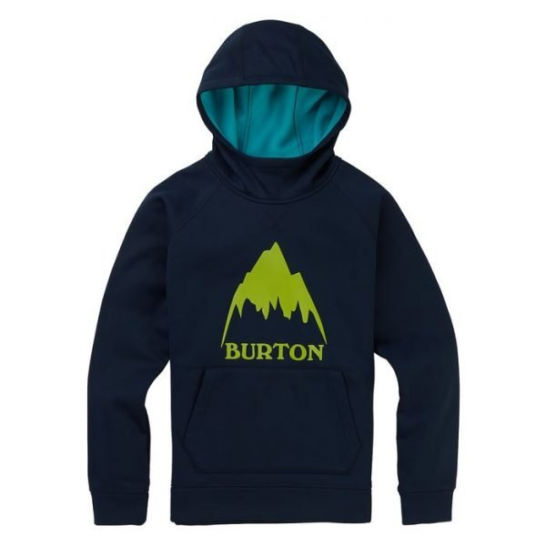 Boys' Burton Crown Bonded Pullover Hoodie felpa ragazzo bambino snowboard sci pile blu