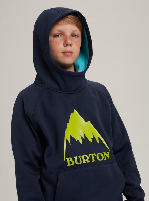 Boys' Burton Crown Bonded Pullover Hoodie felpone ragazzino da snowboard sci scuola caldo ed idrorepellente