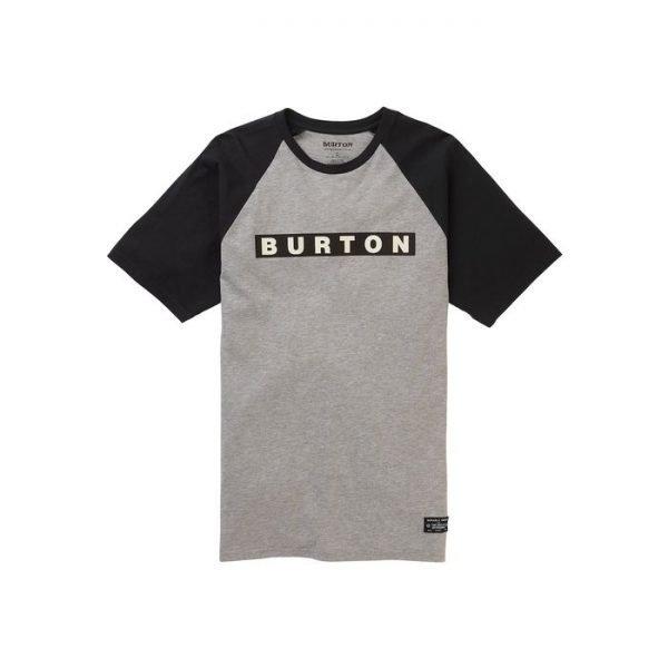 Men's Burton Vault Short Sleeve T-Shirt maglietta grigia ner aragazzo uomo
