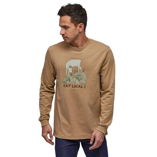 bear foot tan maglietta manica lunga capretta
