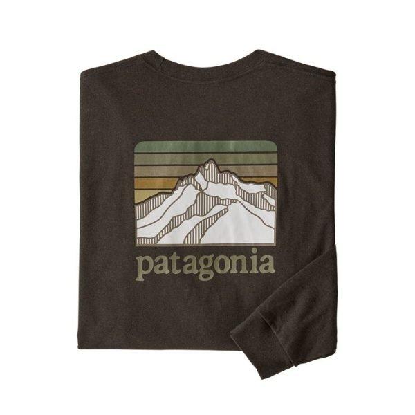 Patagonia Men's Long-Sleeved Line Logo Ridge Responsibili-Tee maglietta manica lunga uomo verdone