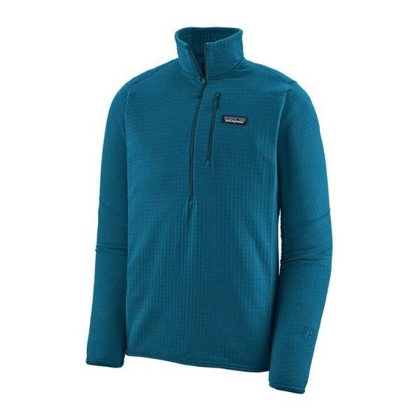 Patagonia Men's R1 Fleece Pullover pile tecnico sci alpinismo blu azzurro