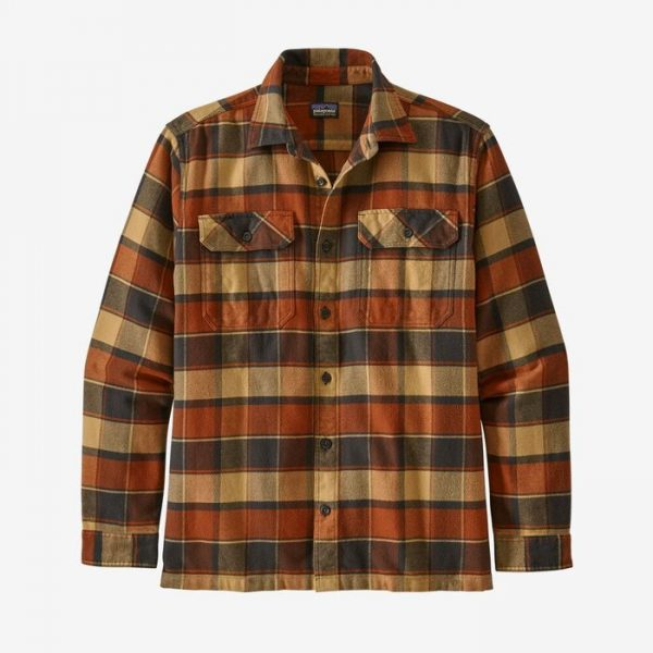 Patagonia M's Long-Sleeved Fjord Flannel Shirt camicia in flanella