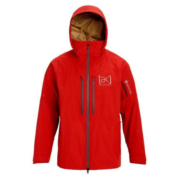 giacca maschile impermeabile sci snowboard rossa