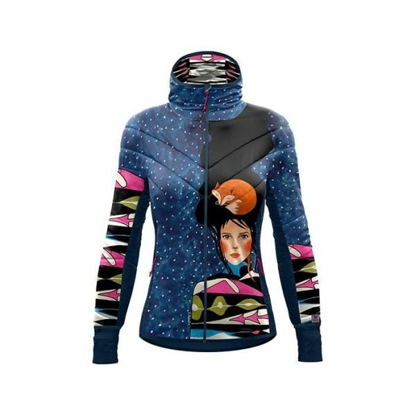 Crazy Idea Jkt Please Woman giacca sotto guscio da donna con grafica volpe