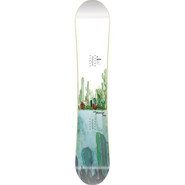 snowboard tavola da ragazza donna da park all mountain grafica cactus