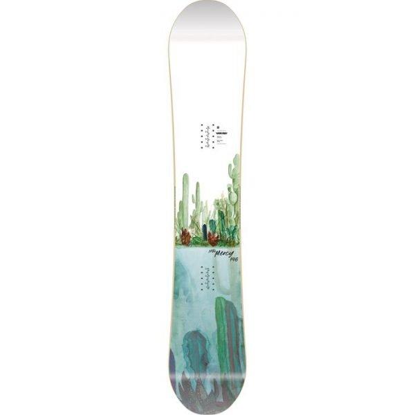 snowboard tavola da ragazza donna da park all mountain grafica cactus
