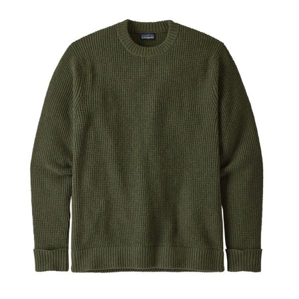 Patagonia Men's Recycled Wool Sweater maglione uomo verdone lana riciclata