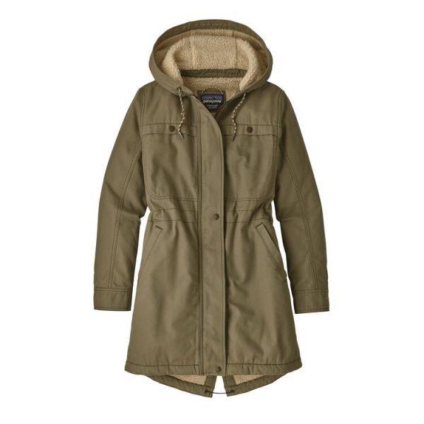 Patagonia Women's Insulated Prairie Dawn Parka giacca cappotto donna ragazza verdone