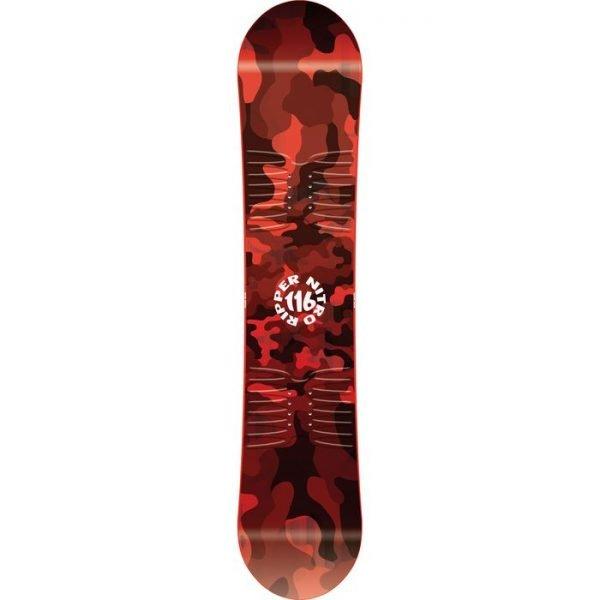 tavola completa snowboard da ragazzino rossa