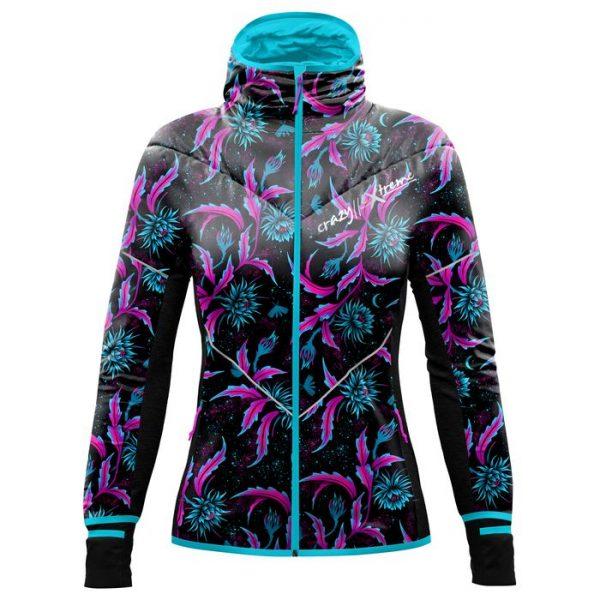 giacca sotto guscio donna fantasia fiori