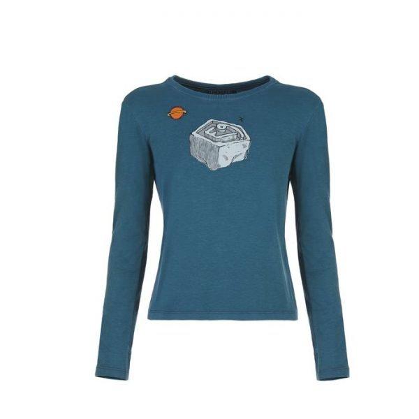 E9 b Planet t-shirt ragazzo manica lunga blu
