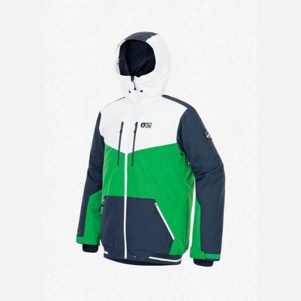 giacca da snowboard sci da uomo ragazzo verde blu e bianca picture organic clothing