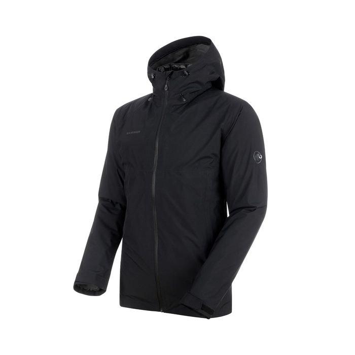 giacca due in una con piumino staccabile nera da uomo