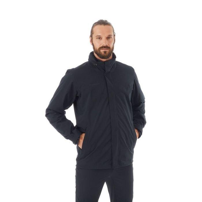 giacca dopia staccabile da uomo ragazzo nera