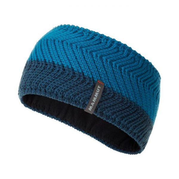 Mammut Alvier Headband fascia invernale donna ragazza uomo blu azzurra