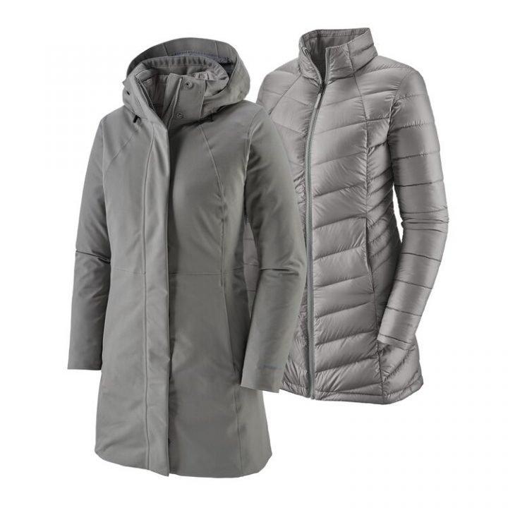 Patagonia Women's Tres 3-In-1 Parka giacca donna con interno staccabile grigia
