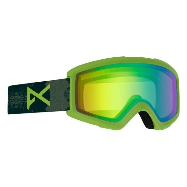 Men's Anon Helix 2.0 Sonar Goggle + Spare Lens verde