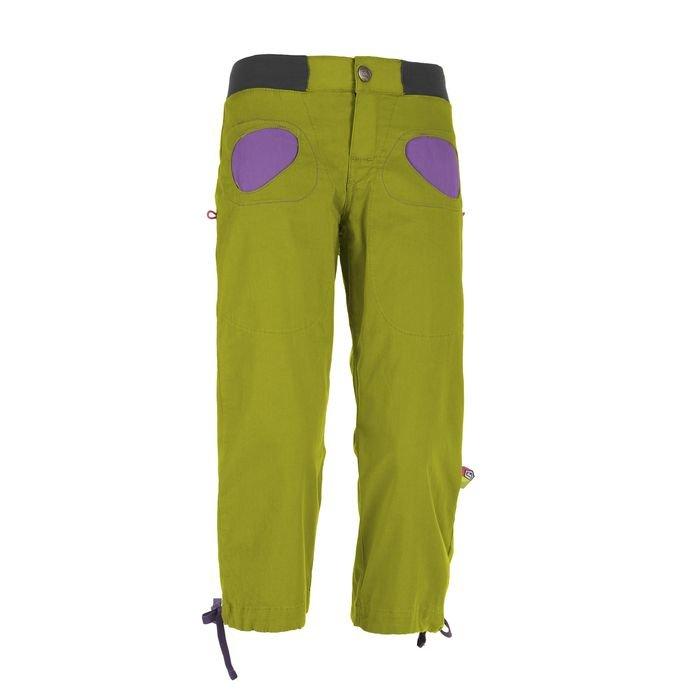 Enove E9 Pantalone Donna Onda Story 3/4 verde tasche fucsia arrampicata ragazza