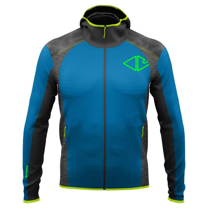 Crazy Idea Jkt Motivation Man giacca leggera anti vento uomo blu