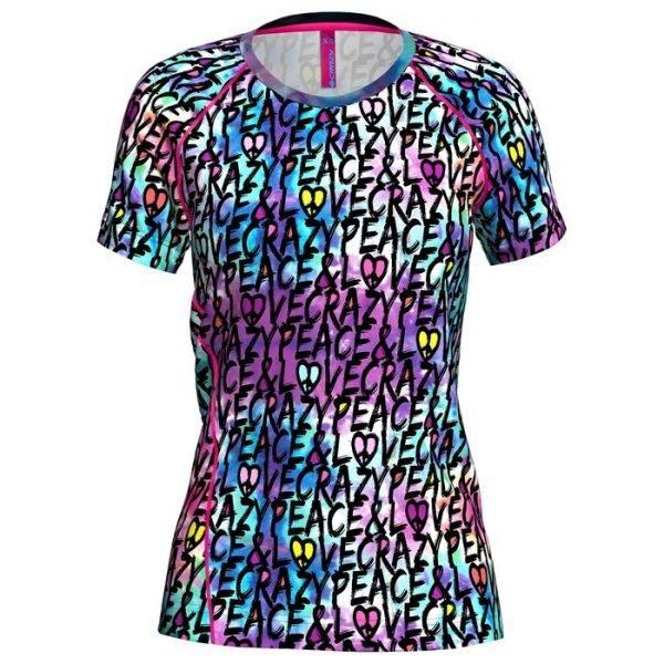 Crazy Idea T-Shirt Mountain Flash Woman
