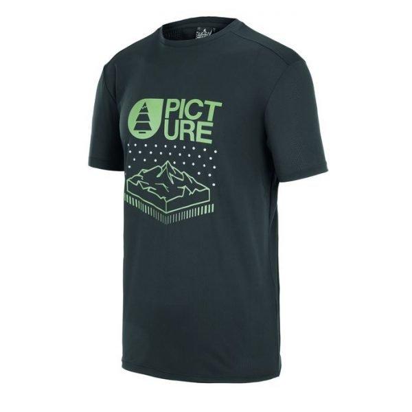Picture Organic Travis Tech Tee maglietta maschile da ragazzo nera trekking viaggio