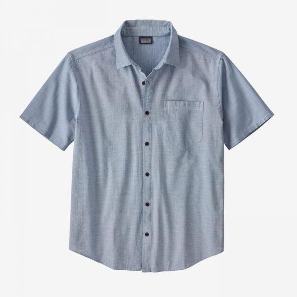 Patagonia Men's Organic Cotton Slub Poplin Shirt camiciotto tinta unita uomo