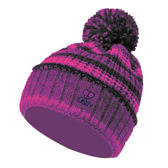 Crazy Idea Cappellino Cap Imput berretto cappellino invernale da ragazza fucsia viola