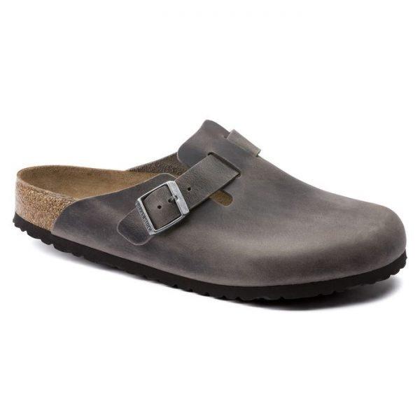 Birkenstock Boston Iron sandalo chiuso sabot grigio