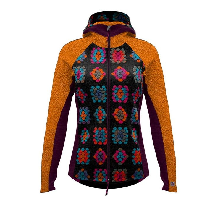 Crazy Idea Jkt Around Woman giacca in lana colorata da donna